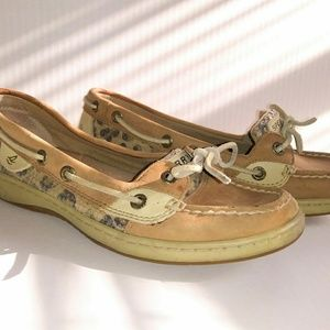 Sperry animal print with sequins